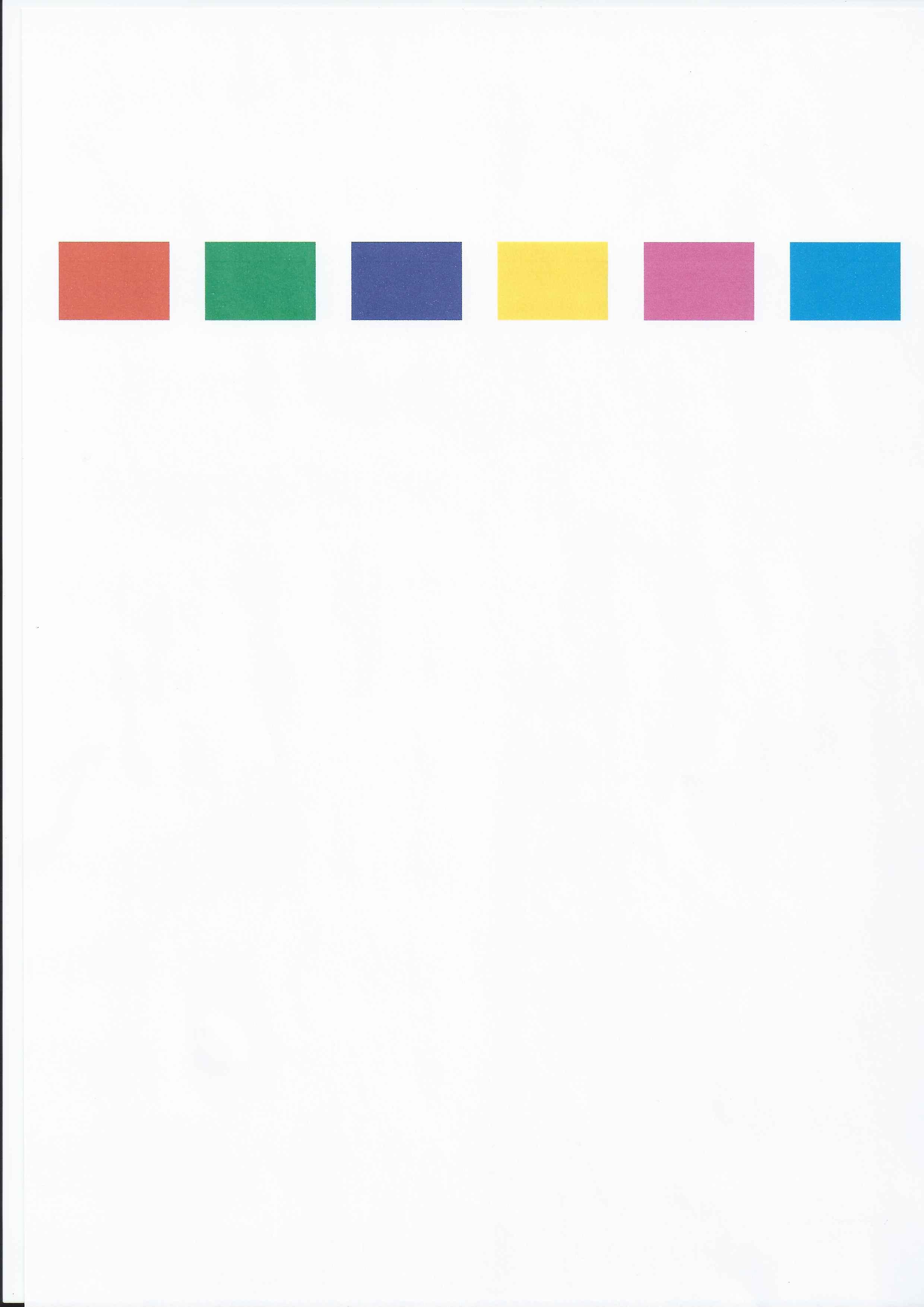 Excelente Página De Prueba De Color De La Impresora Hp Modelo ...