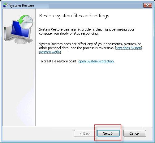 restaura Windows
