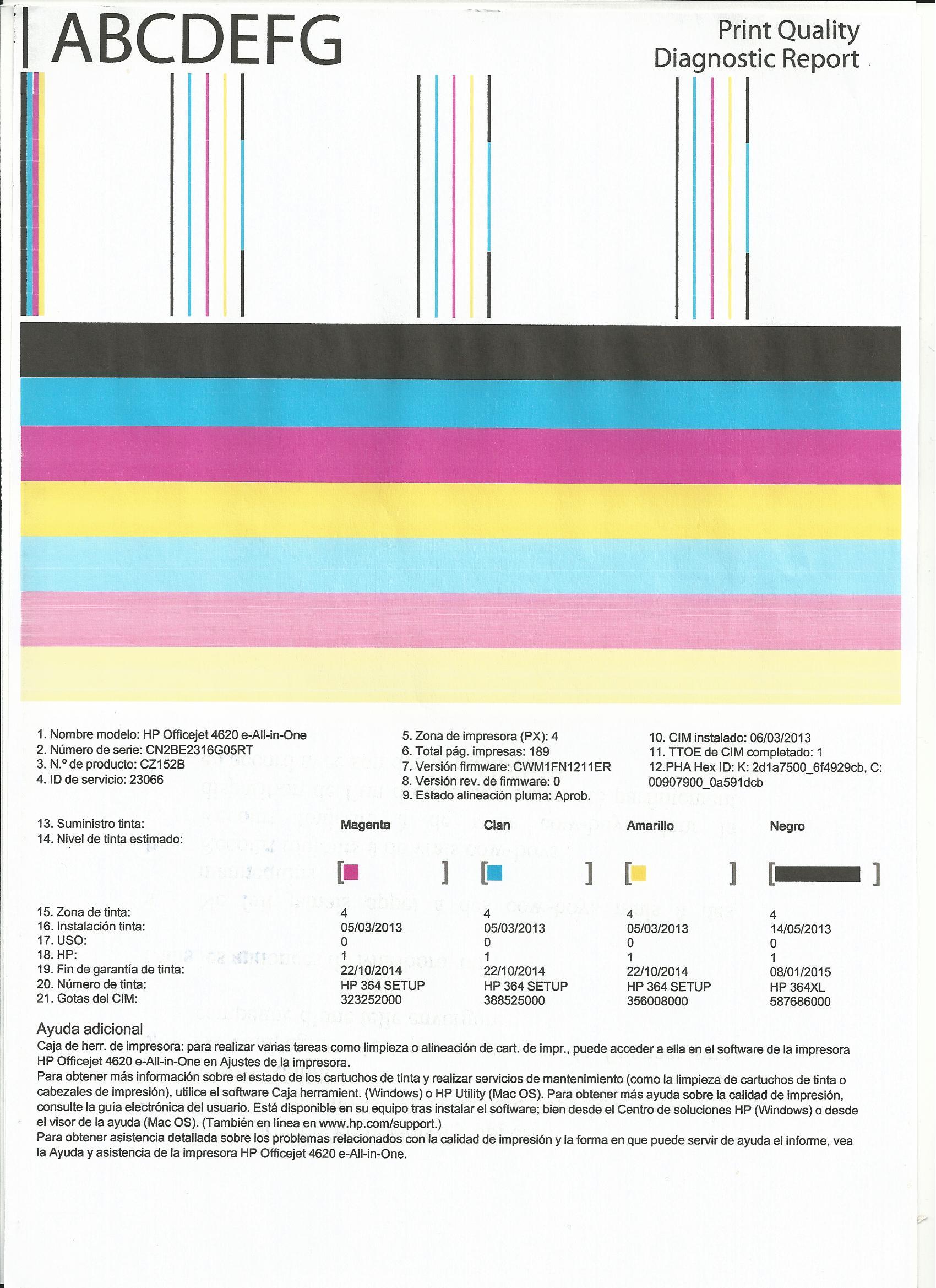Atractivo Página De Prueba De Color De La Impresora Patrón - Dibujos ...