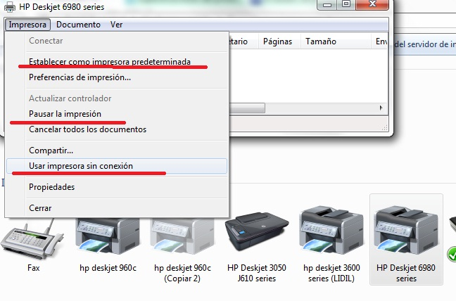 Image result for Pausar la impresora