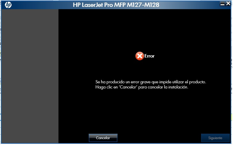 ERROR HP