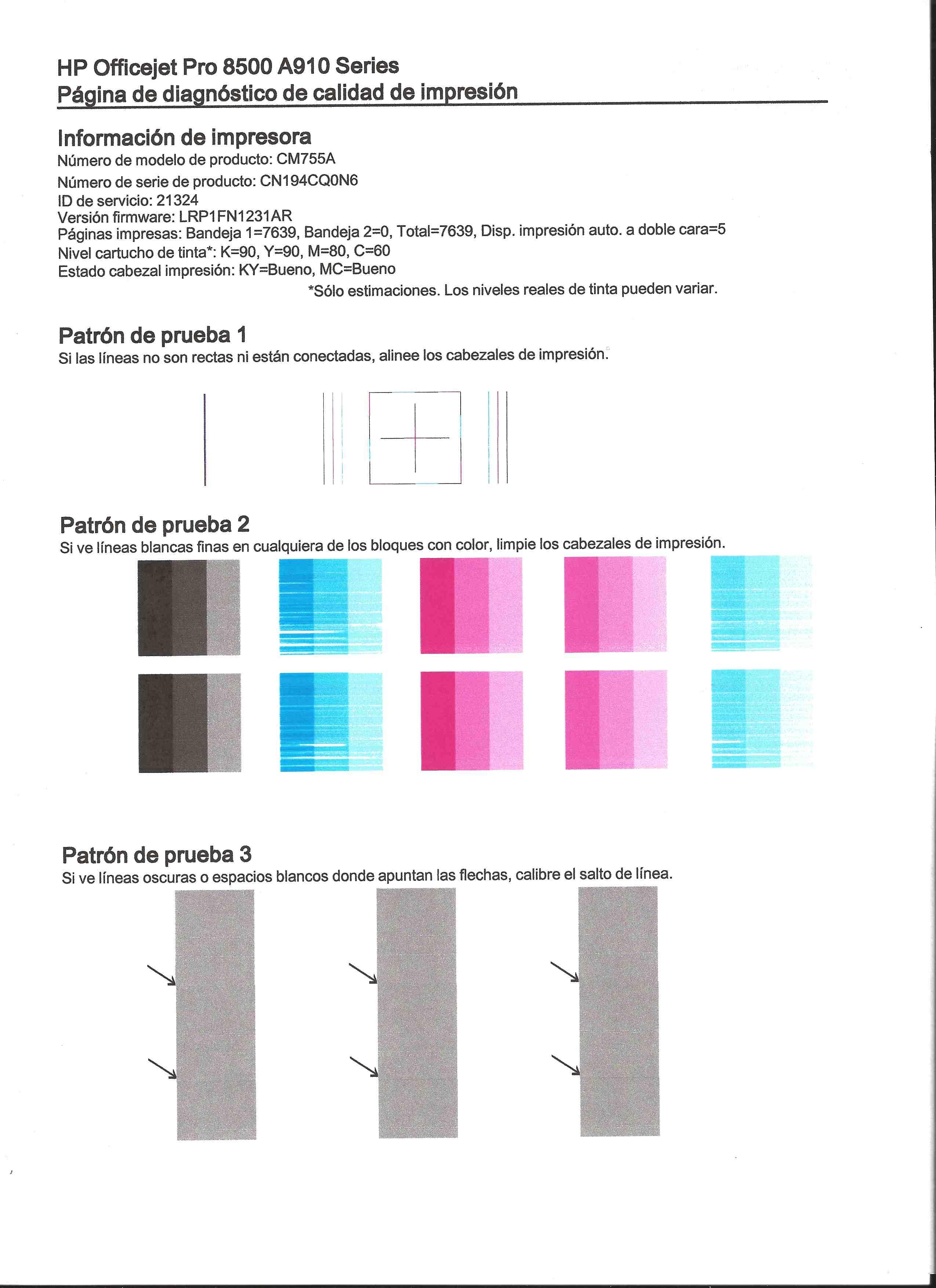 Foro HP - La impresora no imprime con cartuchos nuevos de co ...