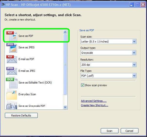 programa para escanear fotos hp