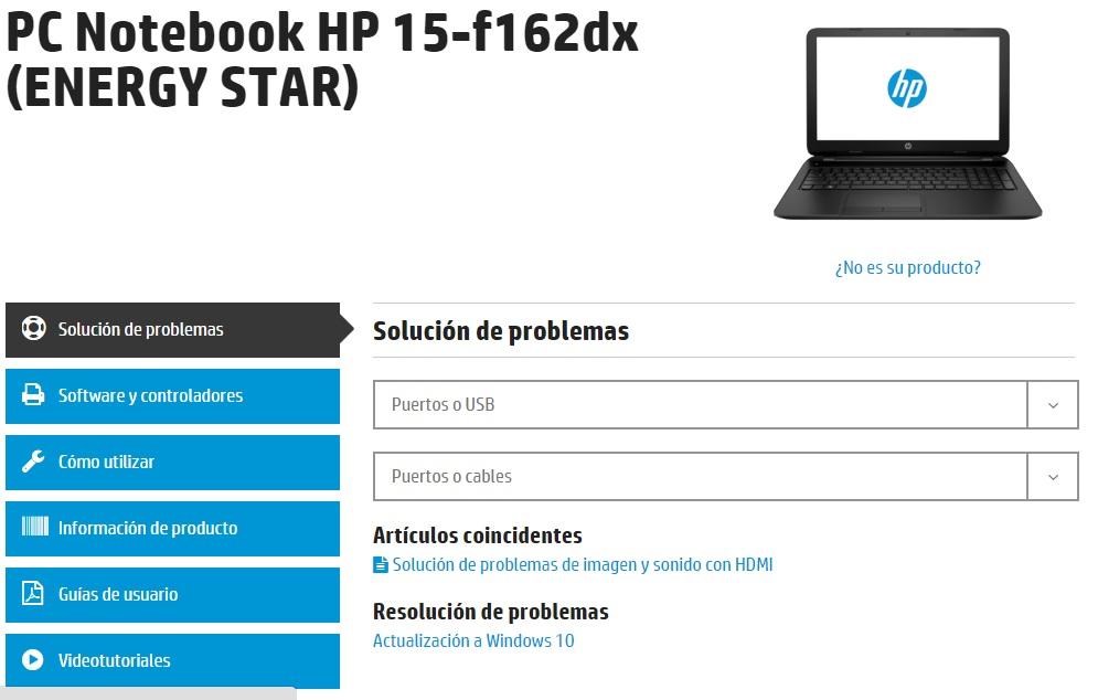 Resolucion pagina HP
