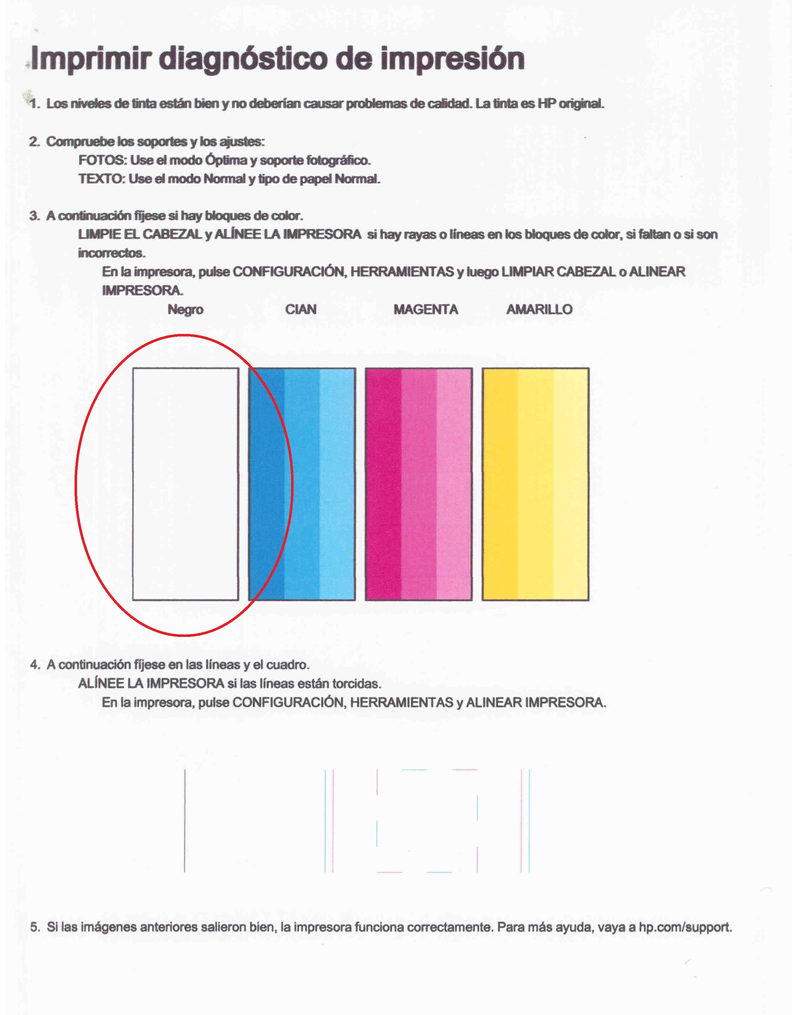 Solucionado: Foro HP - mi impresora 5525 no imprime negro - Foro de ...
