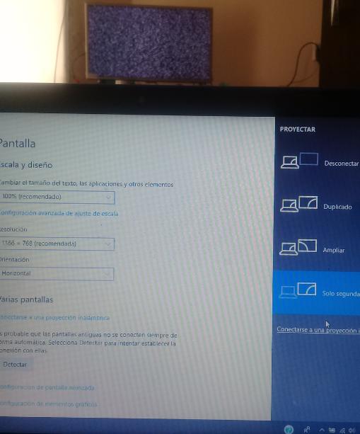 no repite pantalla en ninguna opcion, y despues de un momento se desconecta smart tv de computadora