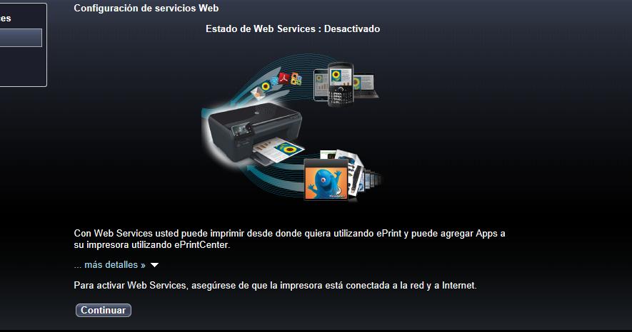 Aparecen los servicios Web desacivados