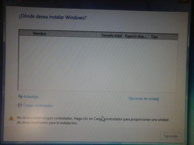 Tratando de Re-instalar Windows 7p-64