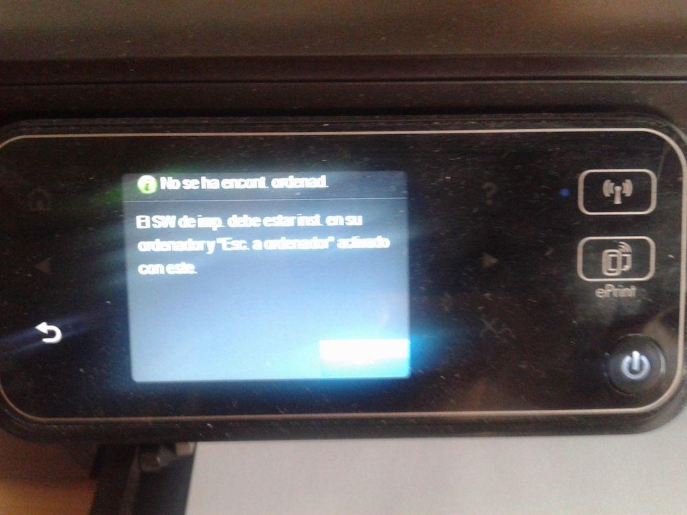Al enviar escaner desde Impresora al MAC, emite este mensaje