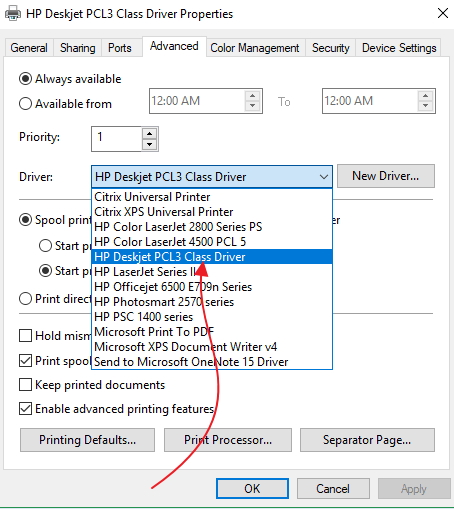 Deskjet PCL3