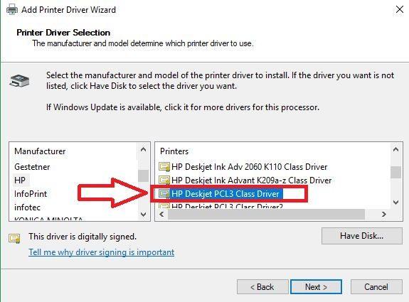 HP Deskjet PCL3 agregar.                     ferRX