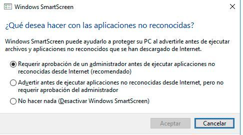 SmartScreen. fx