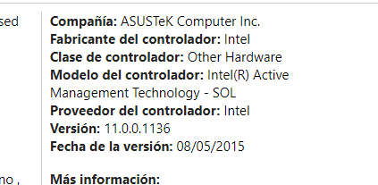 Intel - Other hardware - Intel(R) Active Management Technology - SOL