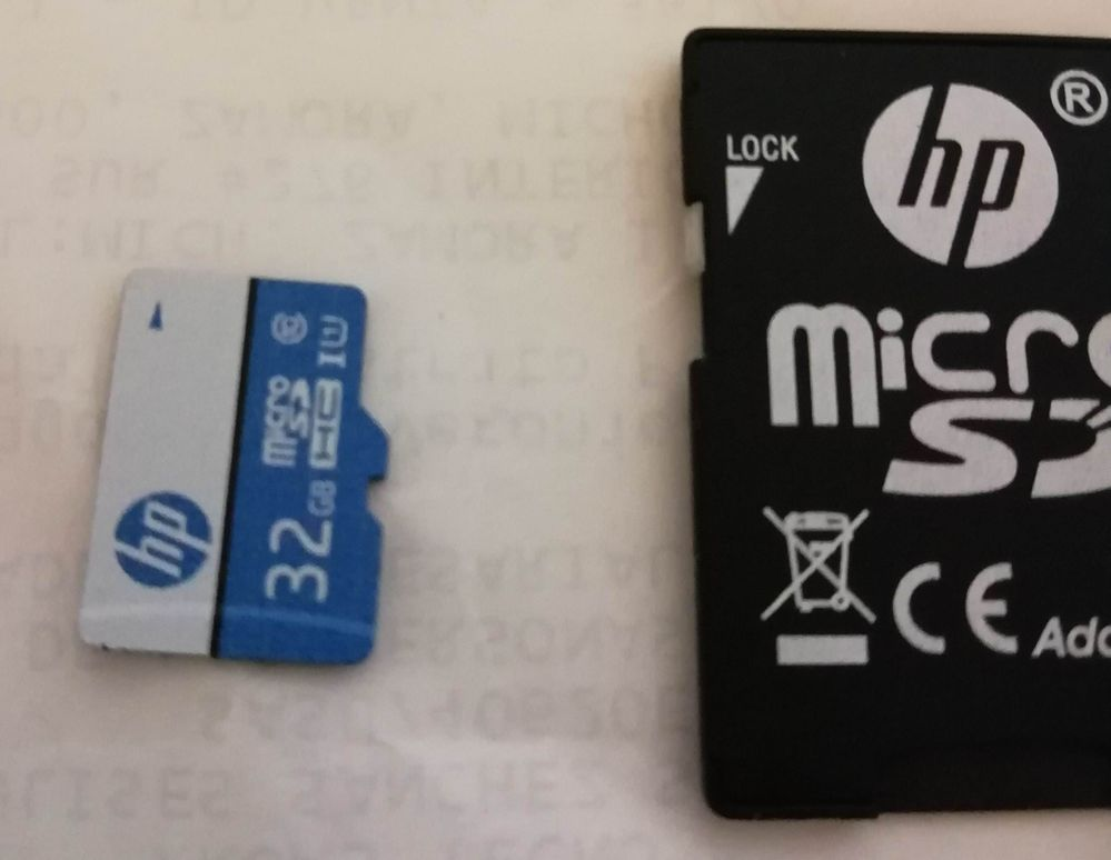 Micro SD con falla