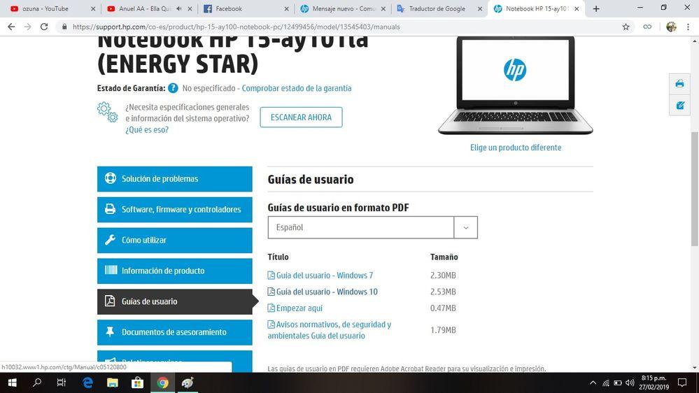 Página de mi laptop