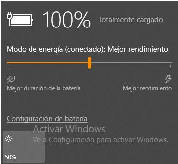Mensaje de barra de herramientas de Windows 10