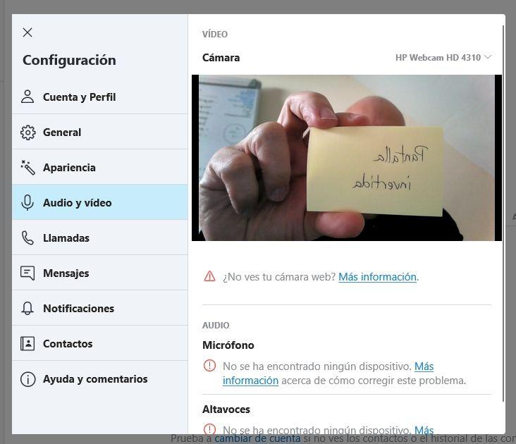 Captura de pantalla con Skype