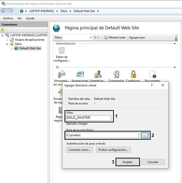 Figura 12. Agregar directorio virtual.