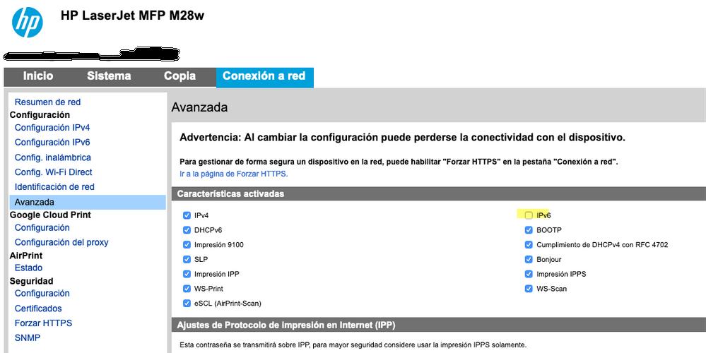 Desactivar el flag IPV6