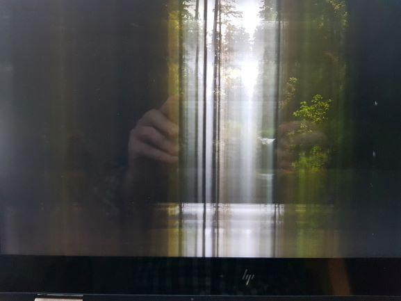 La pantalla con problemas