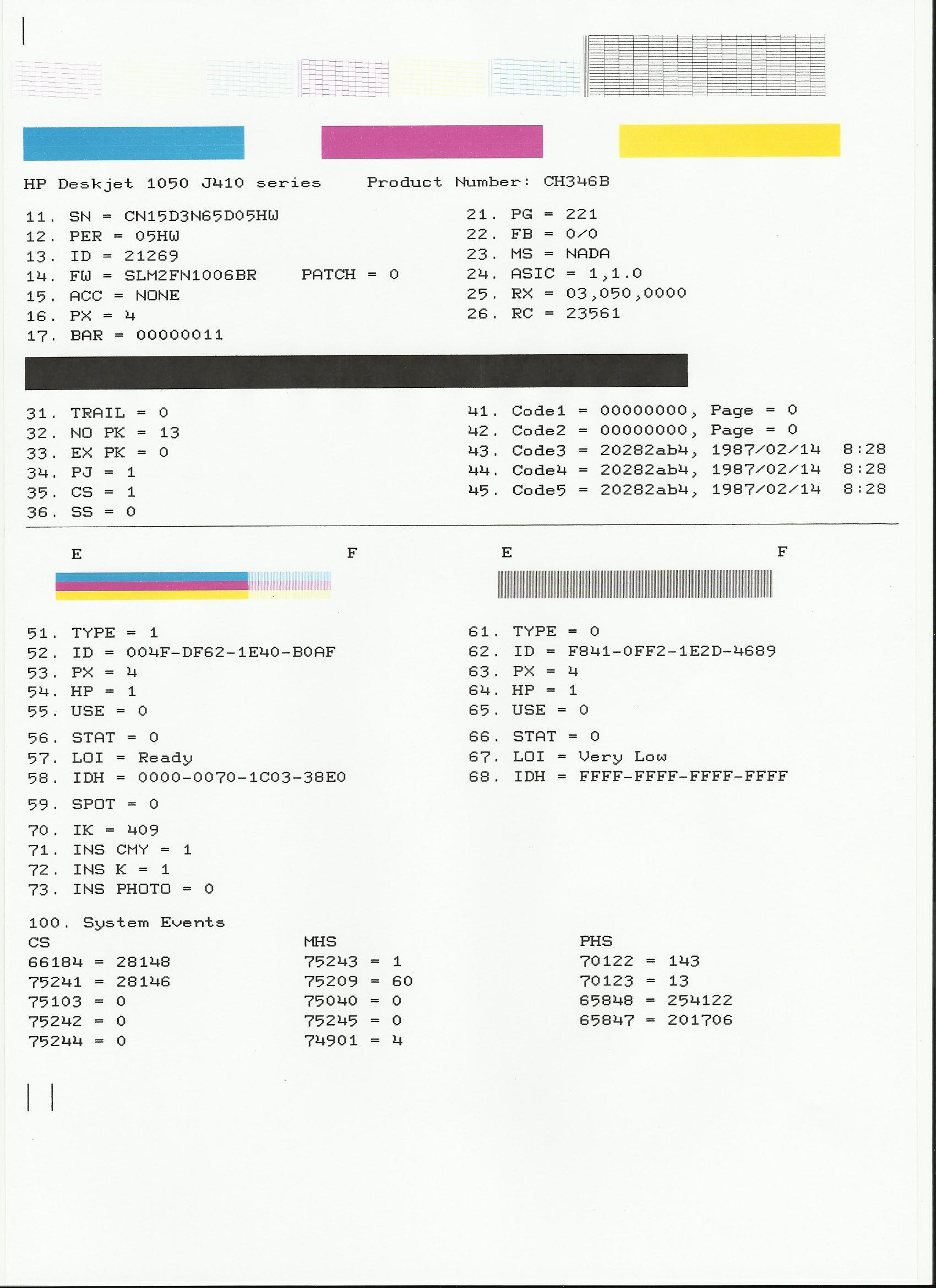 1050 J410 Imprime Pagina De Prueba Pero No Documen