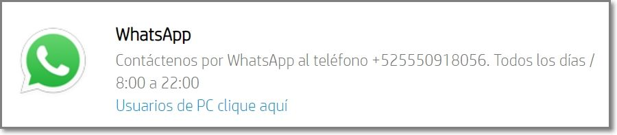 HP Soporte Técnico - Whatsapp