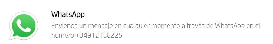 HP Whatsapp España.