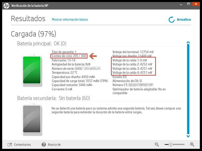 Calibración de batería con HP Support Assistant