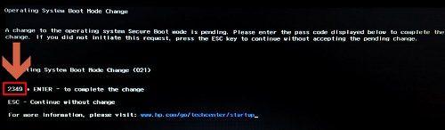 Introducir código numérico y pulsar ENTER.