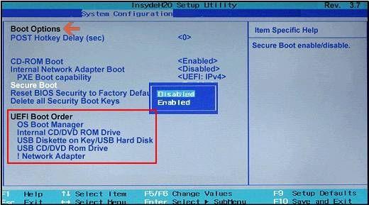 Versión BIOS más antigua