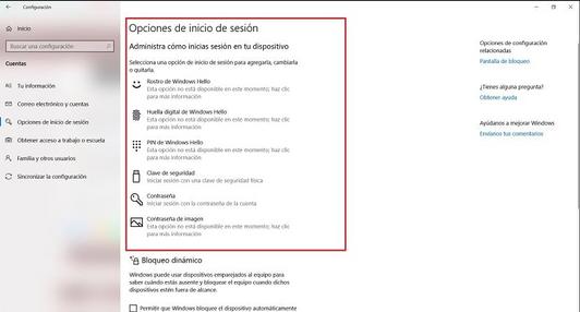 Opciones de Inicio de Sesion Windows 10 .png