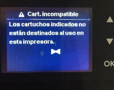 ERROR CARTUCHO ORIGINAL HP