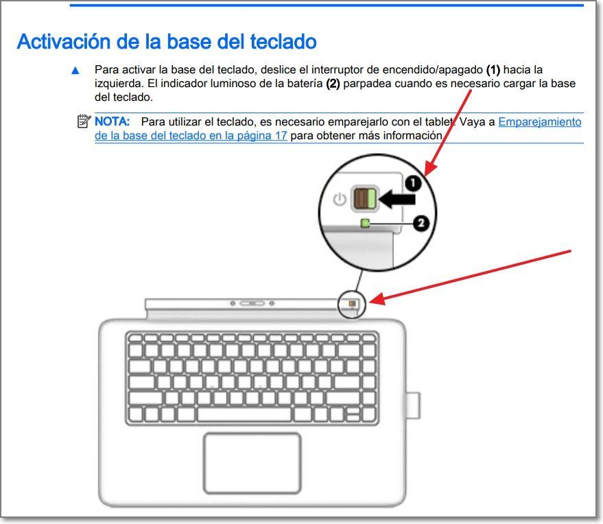 Envy X2 - Interruptor Encendido en base del teclado