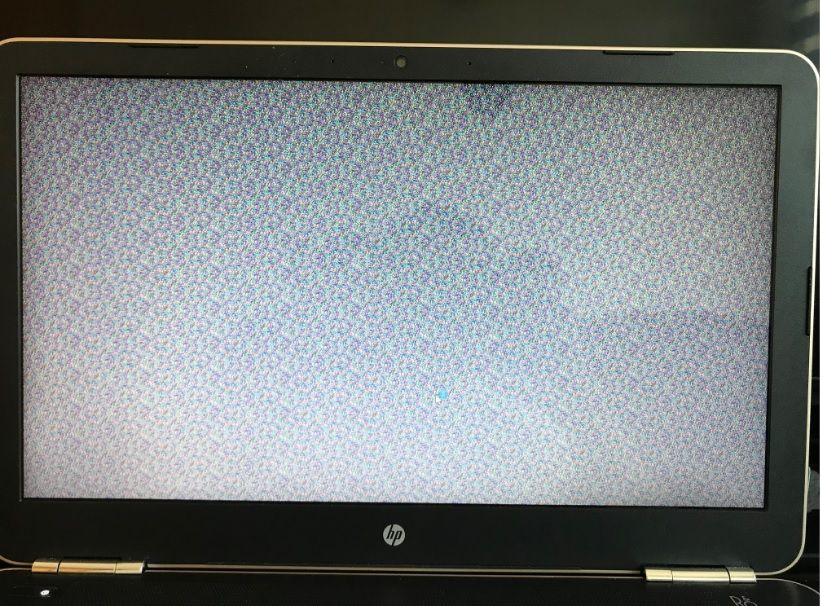 Asi se muestra la pantalla cuando el error se presenta