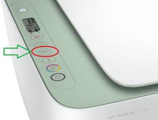 Deskjet 2722. boton Wifi.                 ferRX