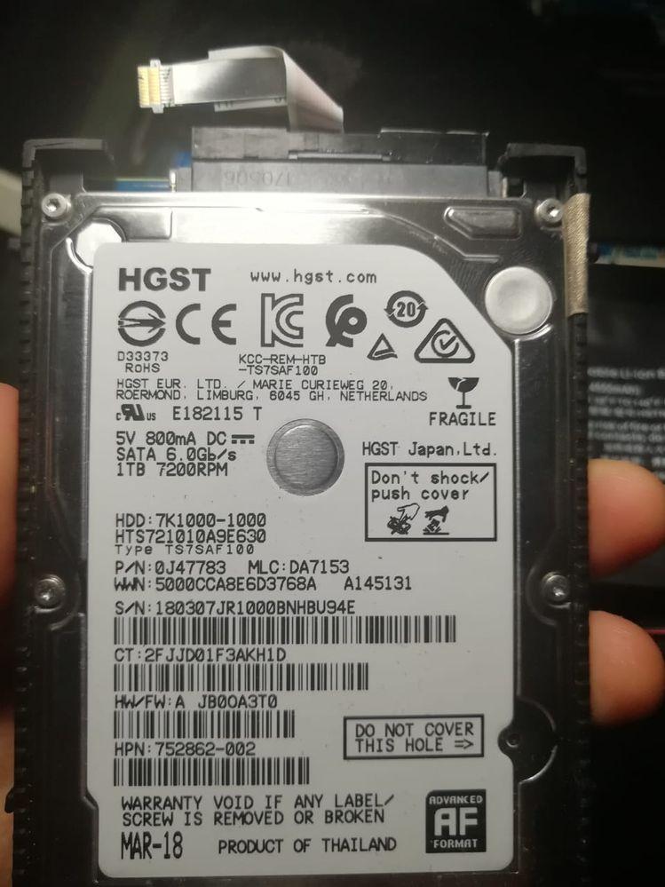 Datos de mi HDD
