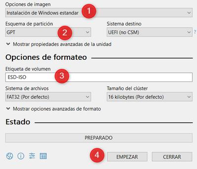 Propiedades de la unidad 2 y Opciones de formateo.