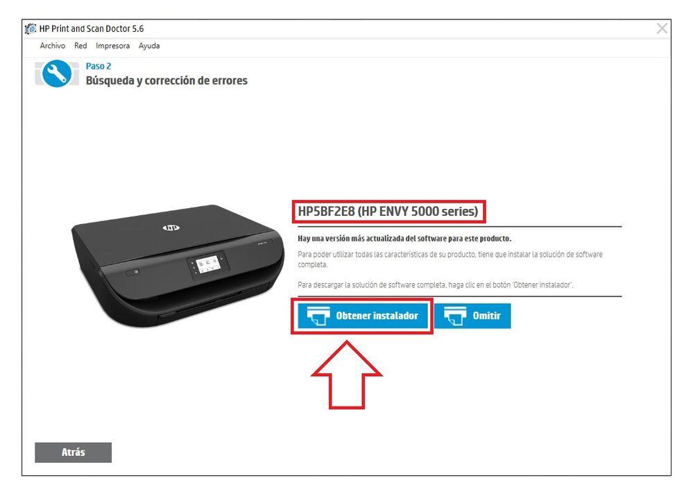 No consigo obtener instalador de software de Impresora HP Envy 5000.jpg
