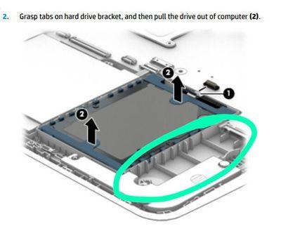 1. Puerto  en el que está conectado el HHD.   Marca verde→espacio para SSD