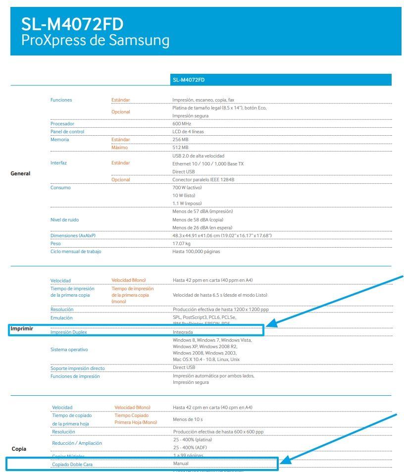 Samsung duplex