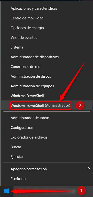 PowerShell (Administrador).